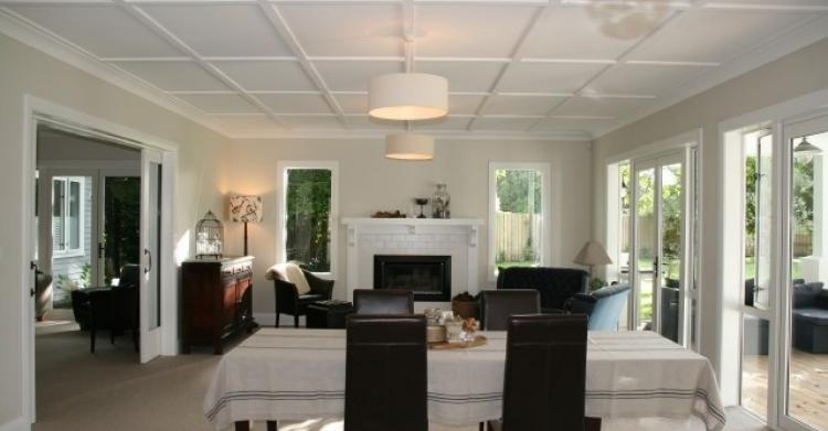 The dining / living area flows onto the covered patio
