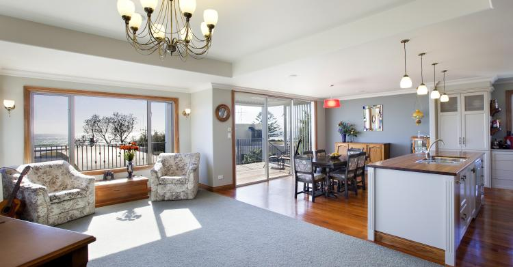 Classic styling in the open plan living area